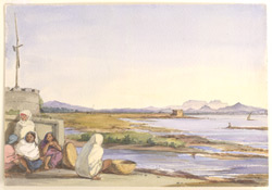 Tanna Bunder. Shahpoor in the distance. Jany. 6th 1851